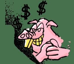 Bapet The Pig sticker #5493311