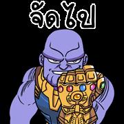 สติ๊กเกอร์ไลน์ Avengers: Infinity War x Jod 8 Riew