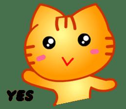 Tomo's Cute Cat Tiger (English) sticker #5513030