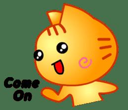 Tomo's Cute Cat Tiger (English) sticker #5513043