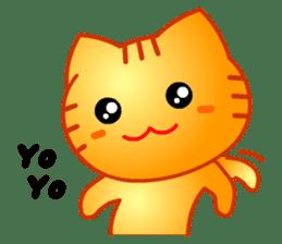 Tomo's Cute Cat Tiger (English) sticker #5513048