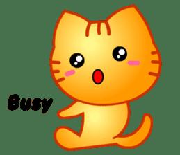 Tomo's Cute Cat Tiger (English) sticker #5513054
