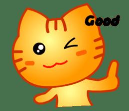 Tomo's Cute Cat Tiger (English) sticker #5513061
