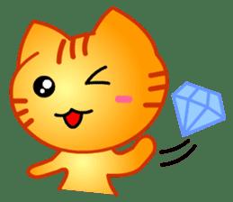 Tomo's Cute Cat Tiger (English) sticker #5513063