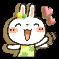 Colorful rabbit!!
