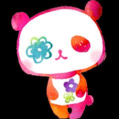 flower panda  illustration ver.