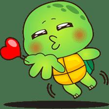 Pura, the funny turtle, version 4 sticker #5523398