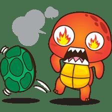 Pura, the funny turtle, version 4 sticker #5523403
