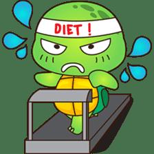 Pura, the funny turtle, version 4 sticker #5523405