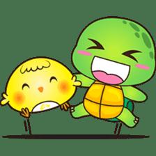 Pura, the funny turtle, version 4 sticker #5523407