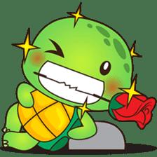 Pura, the funny turtle, version 4 sticker #5523408