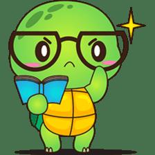 Pura, the funny turtle, version 4 sticker #5523413