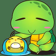 Pura, the funny turtle, version 4 sticker #5523417