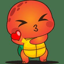 Pura, the funny turtle, version 4 sticker #5523420