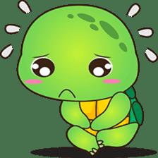 Pura, the funny turtle, version 4 sticker #5523429