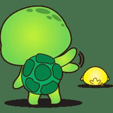 Pura, the funny turtle, version 4 sticker #5523431