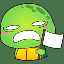 Pura, the funny turtle, version 4 sticker #5523435