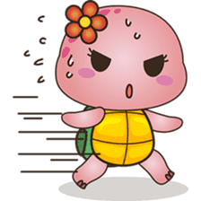 Pika, the pink turtle 2 sticker #5523478