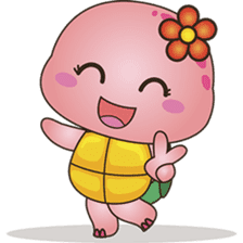 Pika, the pink turtle 2 sticker #5523497