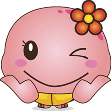 Pika, the pink turtle 2 sticker #5523501
