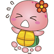 Pika, the pink turtle 2 sticker #5523506