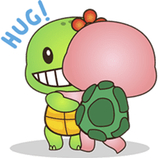 Pika, the pink turtle 2 sticker #5523515