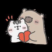 สติ๊กเกอร์ไลน์ Mr. Bear and His Cutie Cat: Our Time