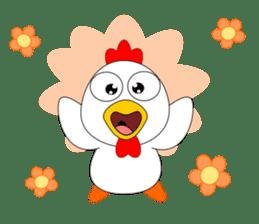 Always cheerful chicken sticker #5534541