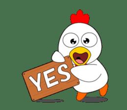 Always cheerful chicken sticker #5534546