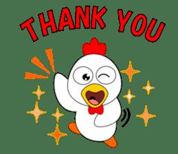 Always cheerful chicken sticker #5534549