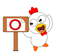 Always cheerful chicken sticker #5534565
