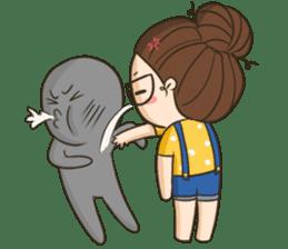 TuaGom : a little cute girl 2 sticker #5534824