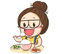 TuaGom : a little cute girl 2 sticker #5534849