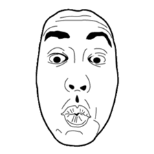 The Real Face Sticker sticker #5551145