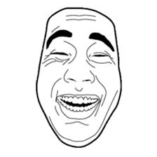 The Real Face Sticker sticker #5551169
