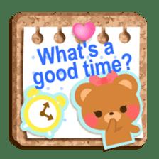 Cork board-English- sticker #5571728