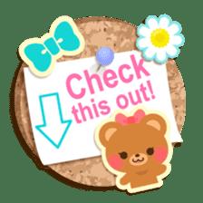 Cork board-English- sticker #5571735