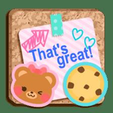 Cork board-English- sticker #5571740