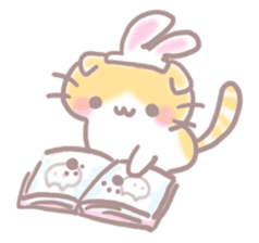 Scottish rabbit sticker #5597224