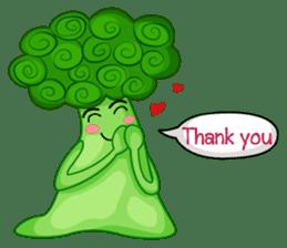 Little broccoli version English sticker #5602659