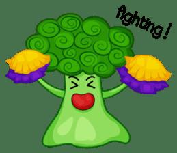 Little broccoli version English sticker #5602673