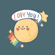 สติ๊กเกอร์ไลน์ Love you to the moon :-)