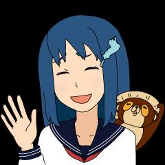 Girl student ninja Chiyona Mochizuki