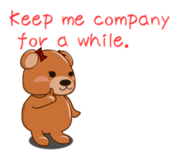 COCOA BEAR with English message sticker #5622928