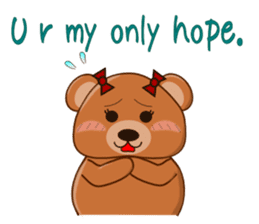 COCOA BEAR with English message sticker #5622930