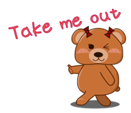 COCOA BEAR with English message sticker #5622934
