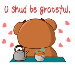 COCOA BEAR with English message sticker #5622936