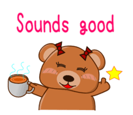 COCOA BEAR with English message sticker #5622939