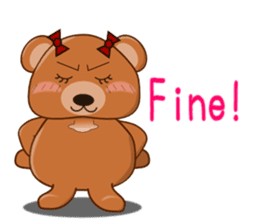COCOA BEAR with English message sticker #5622945