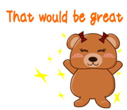 COCOA BEAR with English message sticker #5622947